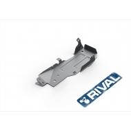 """Защита алюминиевая """"Rival"""" для топливного бака Jeep Wrangler JK 3-дв. МКПП 2007-2018. Артикул: 333.2732.1.6"""