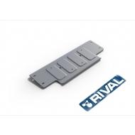 """Защита алюминиевая """"Rival"""" для рулевых тяг Land Rover Defender 90/110 2007-2016. Артикул: 333.3128.1.6"""