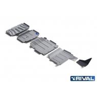 "Защита алюминиевая ""Rival"" для радиатора, картера, КПП и РК Mercedes-Benz X-Class 4WD 2018-2020. Артикул: K333.3942.1"