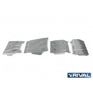 "Защита алюминиевая ""Rival"" для радиатора, картера, КПП и РК Fiat Fullback 2016-2020. Артикул: K333.4046.3"