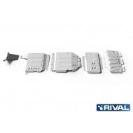 "Защита алюминиевая ""Rival"" для радиатора, картера, КПП и РК Mercedes-Benz X-Class 4WD 2018-2020. Артикул: K333.3942.1.6"