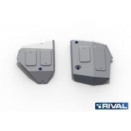 "Защита алюминиевая ""Rival"" для топливного бака Jeep Compass II 4WD 2018-2020. Артикул: 333.2742.1"