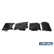 "Защита ""Rival"" для радиатора, картера, КПП и РК Mitsubishi Pajero Sport III 2016-2020. Артикул: K222.4046.3"