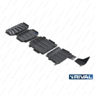 "Защита ""Rival"" для радиатора, картера, КПП и РК Mercedes-Benz X-Class 4WD 2018-2020. Артикул: K222.3942.1"
