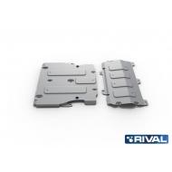 """Защита алюминиевая """"Rival"""" для картера и КПП Audi A6 C8 2018-2020. Артикул: K333.0338.1"""