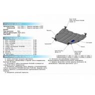 """Защита """"Rival"""" для картера и КПП Hyundai Accent II 2000-2012. Артикул: 111.2301.1"""