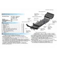 """Защита """"Rival"""" для КПП Mitsubishi Pajero Sport II 2008-2016. Артикул: 2.4034.1"""