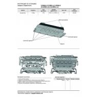 "Защита алюминиевая ""Rival"" для радиатора (черная) Mercedes-Benz G-klasse III W464 2018-2020. Артикул: 23.3951.1.6"