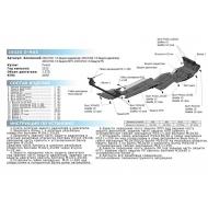 """Защита алюминиевая """"Rival"""" для КПП Isuzu D-Max II 2012-2017 2017-2020. Артикул: 2333.9103.1.6"""