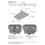 """Защита алюминиевая """"Rival"""" для КПП и РК Audi A8 D5 2017-2020. Артикул: 333.0347.1"""