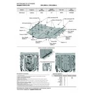 "Защита алюминиевая ""Rival"" для КПП и РК (черная) Rolls-Royce Cullinan 2018-2020. Артикул: 333.2504.1"