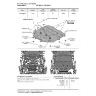 "Защита алюминиевая ""Rival"" для КПП ""Rival"" (черная) для Lamborghini Urus 2018-2020. Артикул: 333.2905.1"