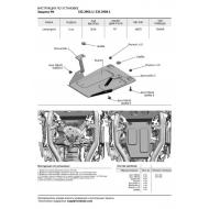 "Защита алюминиевая ""Rival"" для РК ""Rival"" (черная) для Lamborghini Urus 2018-2020. Артикул: 333.2906.1"