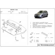 """Защита алюминиевая """"Шериф"""" для картера BMW Х3 E83 2006-2010. Артикул: 03.1416"""