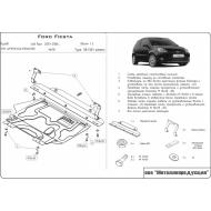 """Защита """"Шериф"""" для картера и КПП Ford Fiesta V 2001-2008. Артикул: 08.1301"""