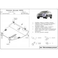 """Защита алюминиевая """"Шериф"""" для картера и КПП Acura MDX II 2006-2013. Артикул: 09.1110"""
