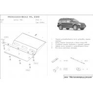 "Защита ""Шериф"" для КПП Mercedes-Benz M-Class (ML230) W163 1998-2005. Артикул: 13.0344"