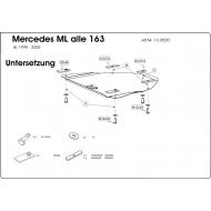 "Защита ""Шериф"" для редуктора Mercedes-Benz M-Class (ML) W163 1998-2005. Артикул: 13.0500"