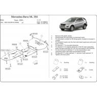 """Защита """"Шериф"""" для картера и КПП Mercedes-Benz M-Class (ML350) W164 2005-2011. Артикул: 13.1007"""