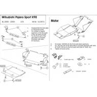"Защита ""Шериф"" для картера Mitsubishi Montero Sport I 1998-2008. Артикул: 14.0573"