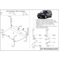 "Защита алюминиевая ""Шериф"" для картера и КПП Mitsubishi Outlander XL 2006-2012. Артикул: 14.1220"