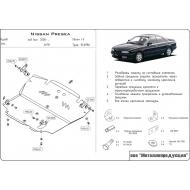 "Защита ""Шериф"" для картера и КПП Nissan Presea 1995-1998. Артикул: 15.0996"