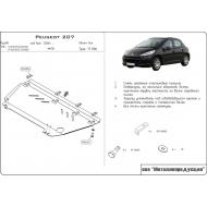 """Защита """"Шериф"""" для картера и КПП Peugeot 207 2006-2013. Артикул: 17.1106"""