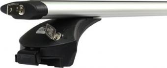 """Багажник на интегрированные рейлинги """"Amos Boss"""" для Mitsubishi Pajero Sport III 2016-2020 (Aero-Alfa дуги с замком). Артикул: boss-a1.2l"""