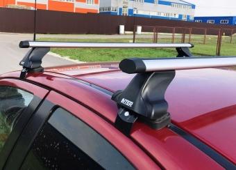 """Багажник на крышу """"INTER D-1"""" креп. за дверные проемы для Peugeot 206, 206+ хэтчбек 3-дв. 1998-2012 (Аэродинамические дуги). Артикул: 5518+1006"""