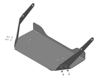 """Защита усиленная """"Motodor"""" для змеевика компрессора MAN TGS шасси 2007-2020. Артикул: 24818"""